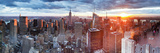 Manhattan View Towards Empire State Building at Sunset from Top of the Rock  at Rockefeller Plaza  