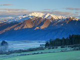 View Towards Coronet Peak Ski Field  Queenstown  Central Otago  South Island  New Zealand