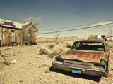 USA  Nevada  Great Basin  Goldfield  Abandoned House and Car
