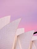 Australia  New South Wales  Sydney  Sydney Opera House  Close-Up of Opera House at Dawn
