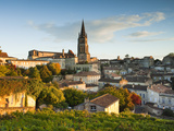 France  Aquitaine Region  Gironde Department  St-Emilion  Wine Town  Town View with Eglise Monolith