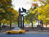 Duke Ellington Statue  Frawley Circle  Harlem  Manhattan  New York City  USA