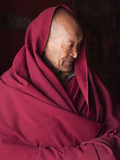 India  Ladakh  Likir  Senior Monk at Likir Monastery  Ladakh  India