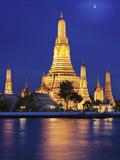 Thailand  Bangkok  Wat Arun Temple at Night