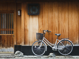 Japan  Chubu Region  Kyoto  Gion  a Bicycle Rests Against the Wall of a Traditional Building