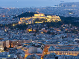 View of the Acropolis and the Parthenon Athens  Greece