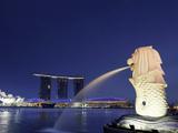 Singapore  Merlion Park  Merlion Fountain