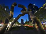 The Berlin Sculpture by Night  Tiergarten  Berlin  Germany