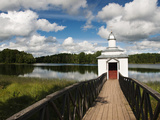 Monastic Bath on Pogostskoye Lake  Pokrovo-Tervenichesky Monastery  Leningrad Region  Russia