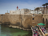 Israel  North Coast  Akko-Acre  Ancient City  Waterfront Cafe in City Walls