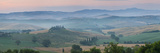 Farmhouse in Valley at Daybreak  Val D' Orcia  Tuscany  Italy