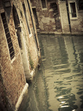 Canal in the Castello District  Venice  Italy