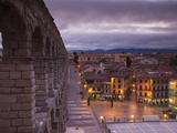 Spain  Castilla Y Leon Region  Segovia Province  Segovia  Town View over Plaza Azoguejo with El Acu