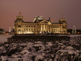 The German Parliament in the Old Reichstag Building  Berlin  Germany