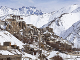 India  Ladakh  Lamayuru  Lamayuru Monastery  Remote and Isolated  Hemmed in by Dramatic Snow Covere