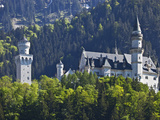 Neuschwanstein Castle Viewed from the Village of Schwangau  Bayern  Germany