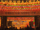 Korea  Seoul  Gangnam  Bongeunsa Temple  Lanterns  Lotus Lantern Festival Celebrations for Bhuddda'