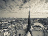 France  Paris  View of the Seine River and City from the Notre Dame Cathedral
