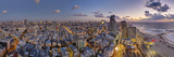Israel  Tel Aviv  Elevated Dusk View of Beachfront Hotel