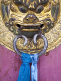 Mongolia  Ovorkhangai  Kharkhorin  Erdene Zuu Monastery  Door Knocker on Temple Door