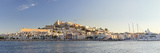 Spain  Balearic Islands  Ibiza  View of Ibiza Old Town (UNESCO Site)  and Dalt Vila
