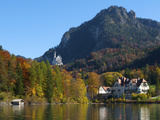 Neuschwanstein Castle Ans Lake Alpsee  Allgaeu  Bavaria  Germany