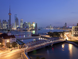 New Pudong Skyline; Waibaidu (Garden) Bridge; Looking across the Huangpu River from the Bund; Shang