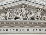 Brno  Czech Republic  Detail from the Opera Theatre