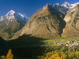 India  Himachal Pradesh  Lahaul  Near Keylong  Pattan Valley at Tandi Marks the Confluence of Chand