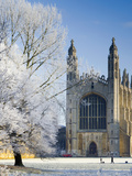 UK  England  Cambridgeshire  Cambridge  the Backs  King's College Chapel in Winter