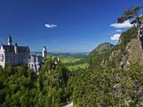 Neuschwanstein Castle View from the Marianbrucke  Hohenschwangau  Schwangau  Bayern  Germany