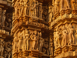 India  Madhya Pradesh  Khajuraho  Kandariya Mahadeva Temple famed for their Exuberant Sculpture  UN