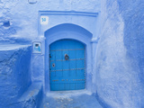 Narrow Lane  Chefchaouen  Morocco