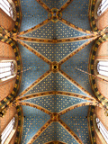 Poland  Cracow  the Ornately Decorated Vaulted Ceiling in the Church of St Mary  Market Square
