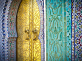 Royal Palace Door, Fes, Morocco Reproduction d'art par Doug Pearson