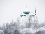 Church of St. John the Baptist in Winter, Staraya Ladoga, Leningrad Region, Russia Papier Photo par Nadia Isakova