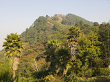 Malawi  Zomba  View from the Exotic Gardens of Ku Chawe Inn Towards Zomba Mountain