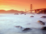USA  California  San Francisco  Golden Gate Bridge from Marshall Beach