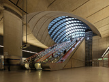 London Canary Wharf Tube Station as Part of the Jubilee Line Extension Was Designed by Norman Foste
