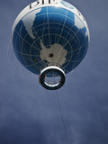 The Die Welt Observation Balloon on Kniederkircherstrasse  Potsdamer Platz  Berlin  Germany