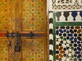 Interior Door Detail  Moulay Ismal Mousoleum  Medina  Meknes  Morocco