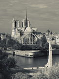 France  Paris Cathedrale Notre Dame and the Pont De La Tournelle Bridge