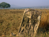 India  Madhya Pradesh  Panna National Park (Aka Panna Tiger Reserve)  Old Sati-Stone  or Suttee-Sto