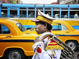 Member of a Music Band Streets of Kolkata India