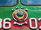 Russia  St Petersburg  Locomotives at the Railway Museum