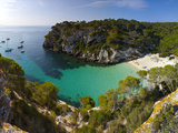 Elevated View over the Beach of Cala Macarelleta  Menorca  Balearic Islands  Spain
