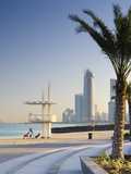 United Arab Emirates  Abu Dhabi  Corniche  Lifeguards and Skyline