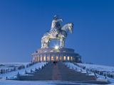 Mongolia  Tov Province  Tsonjin Boldog  a 40M Tall Statue of Genghis Khan on Horseback Stands on To