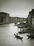 Grand Canal from the Rialto  Venice  Italy