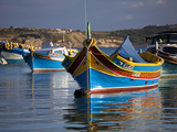 Malta  Europe  Colourful Traditional Maltese Boats known Locally as 'Luzzu' in the Village of Marsa